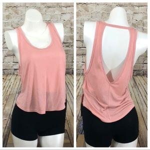 Pink active gym tank top size XS NWT